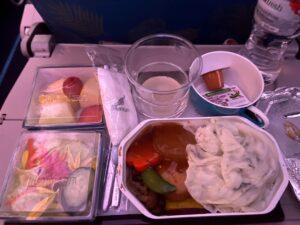 スリランカ航空機内食和食